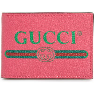 Gucci Bifold Leather Wallet - Pink