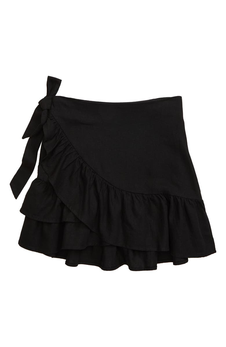 SEED HERITAGE Ruffle Skirt, Main, color, BLACK