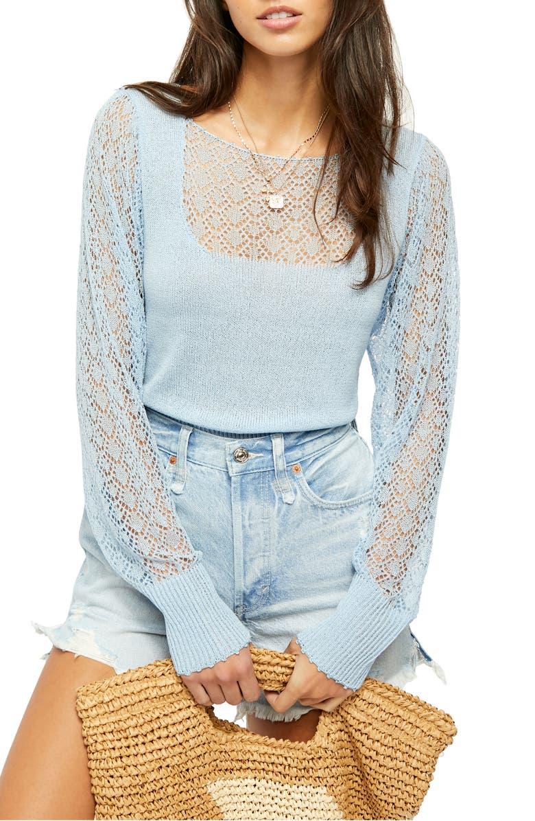 FREE PEOPLE Crystallized Sweater, Main, color, 450