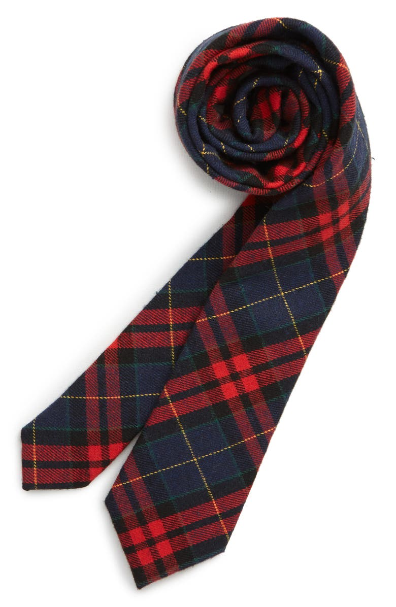 NORDSTROM Felix Plaid Tie, Main, color, RED