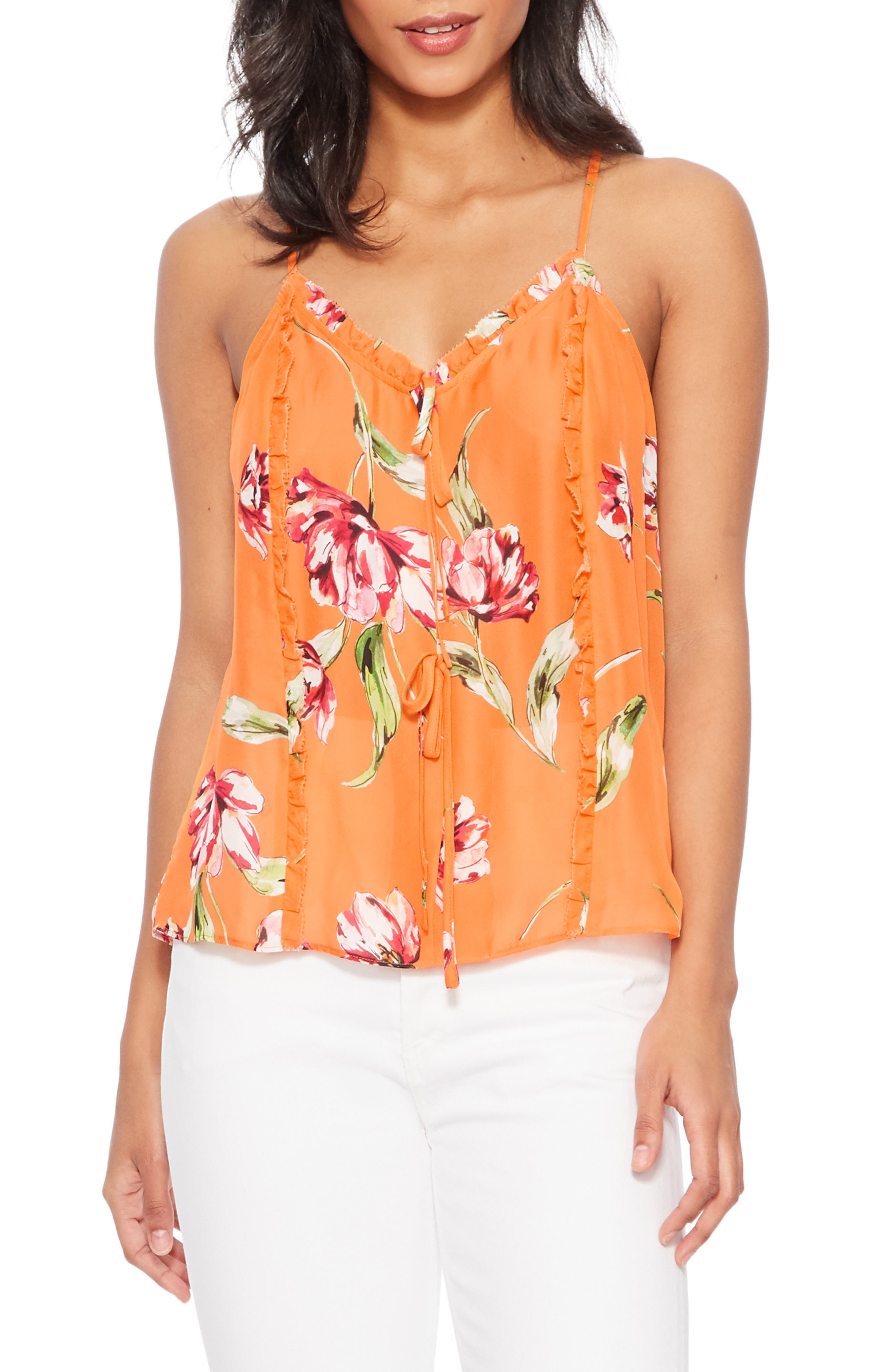 ,                             Rubina Tank,                             Main thumbnail 1, color,                             ORANGE MAGNOLIA