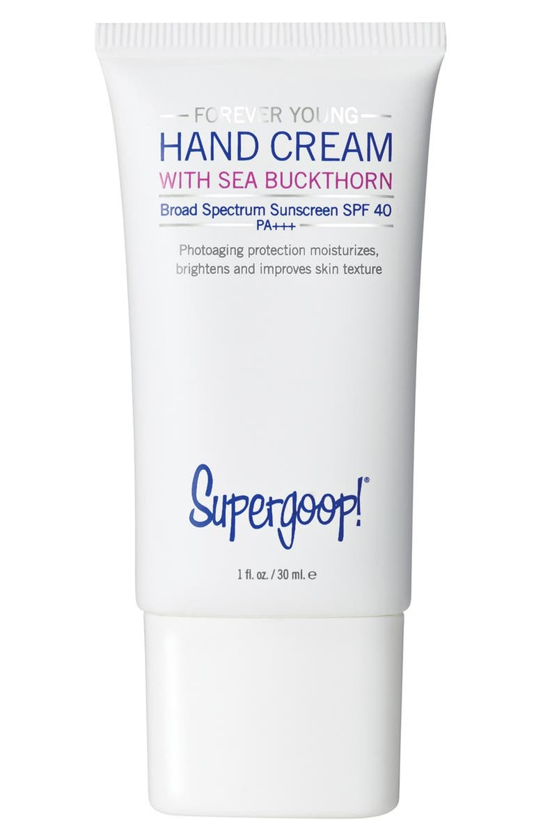 SUPERGOOP!<SUP>®</SUP> Supergoop! Forever Young Hand Cream with Sea Buckthorn Broad Spectrum SPF 40, Main, color, 000
