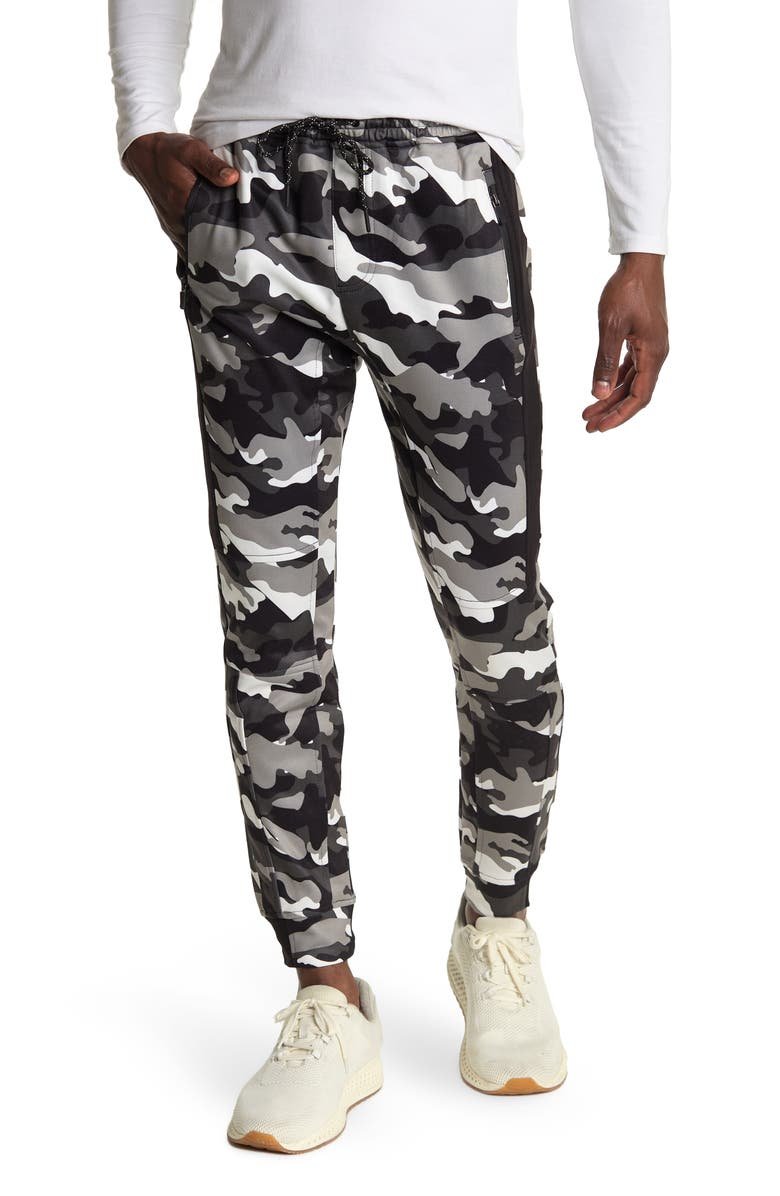 BURNSIDE Camo Fleece Pants, Main, color, WHITE CAMO