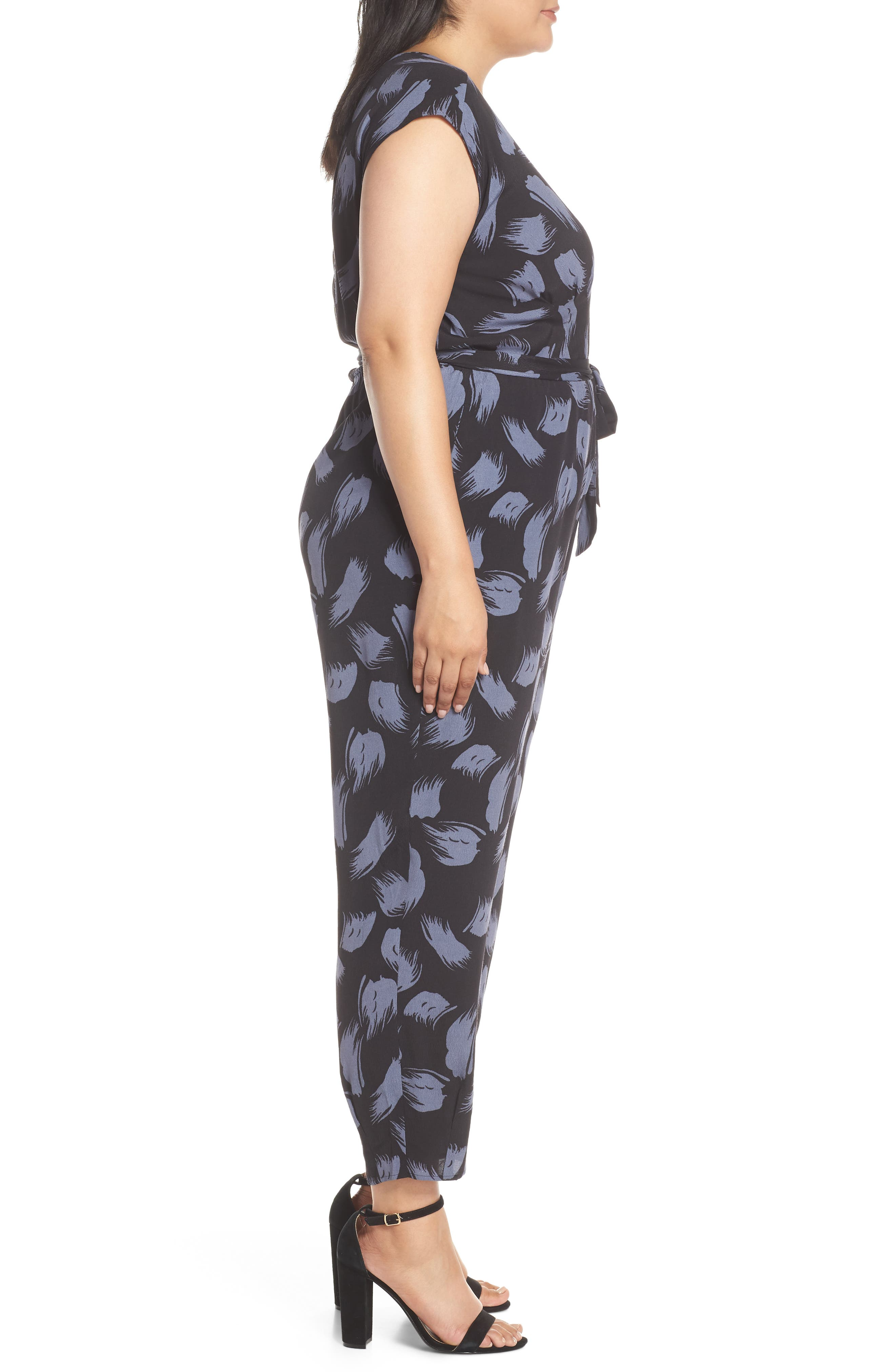 ,                             Tie Waist Print Jumpsuit,                             Alternate thumbnail 10, color,                             001