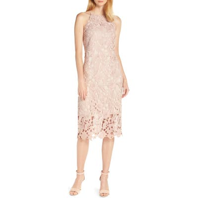 Sam Edelman Halter Top Lace Dress, Pink