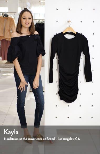Elena Long Sleeve Back Cutout Body-Con Dress, sales video thumbnail