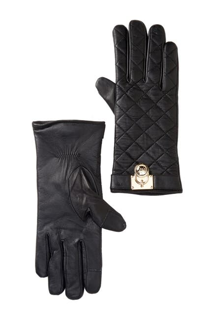 Image of MICHAEL Michael Kors Quilted Leather Gloves