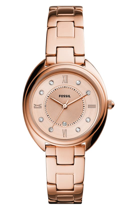Fossil GABBY CRYSTAL BRACELET WATCH, 34MM