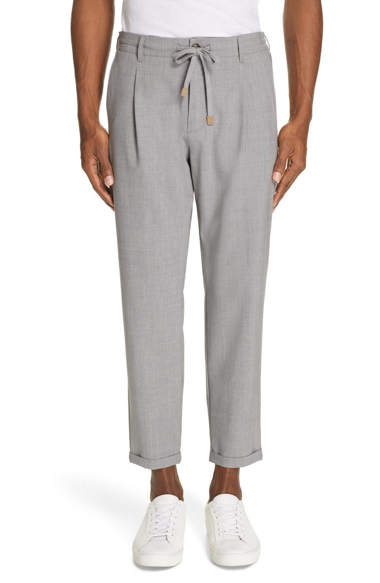 ELEVENTY Stretch Wool Jogger Dress Pants, Main, color, LIGHT GREY