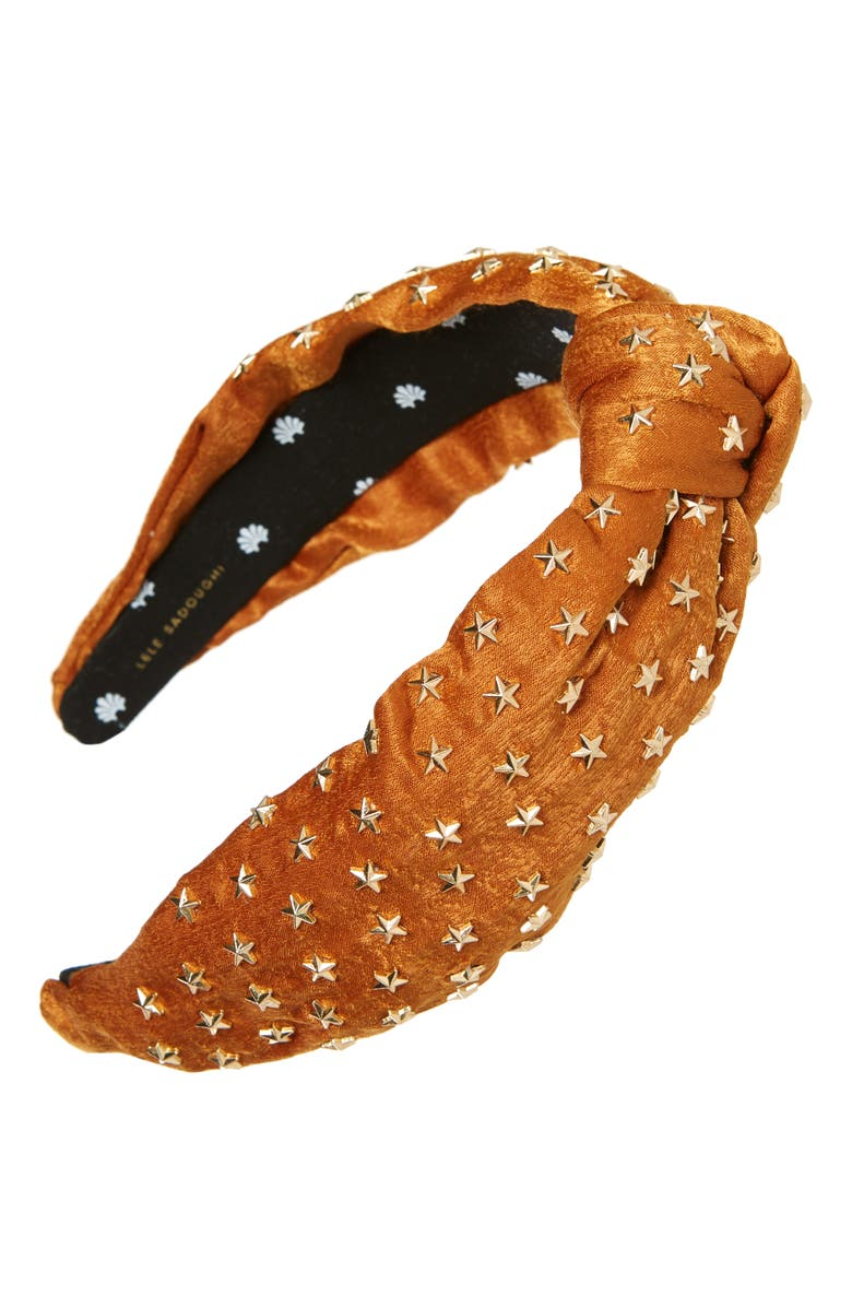 LELE SADOUGHI Star Studded Knotted Headband., Main, color, 200