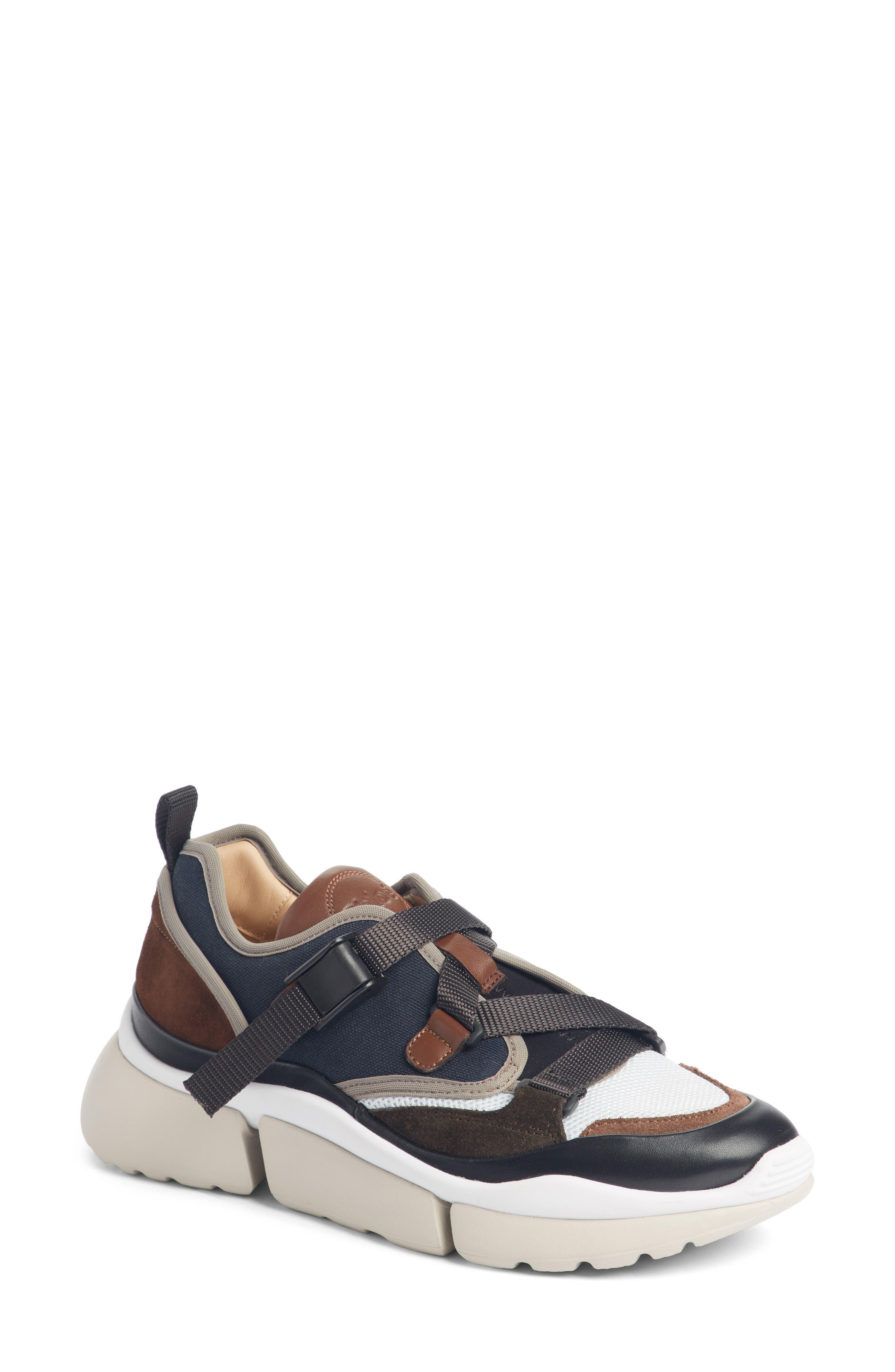 Chloe Sonnie Low Top Sneaker, Blue