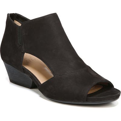 Naturalizer Greyson Open Toe Bootie, Black