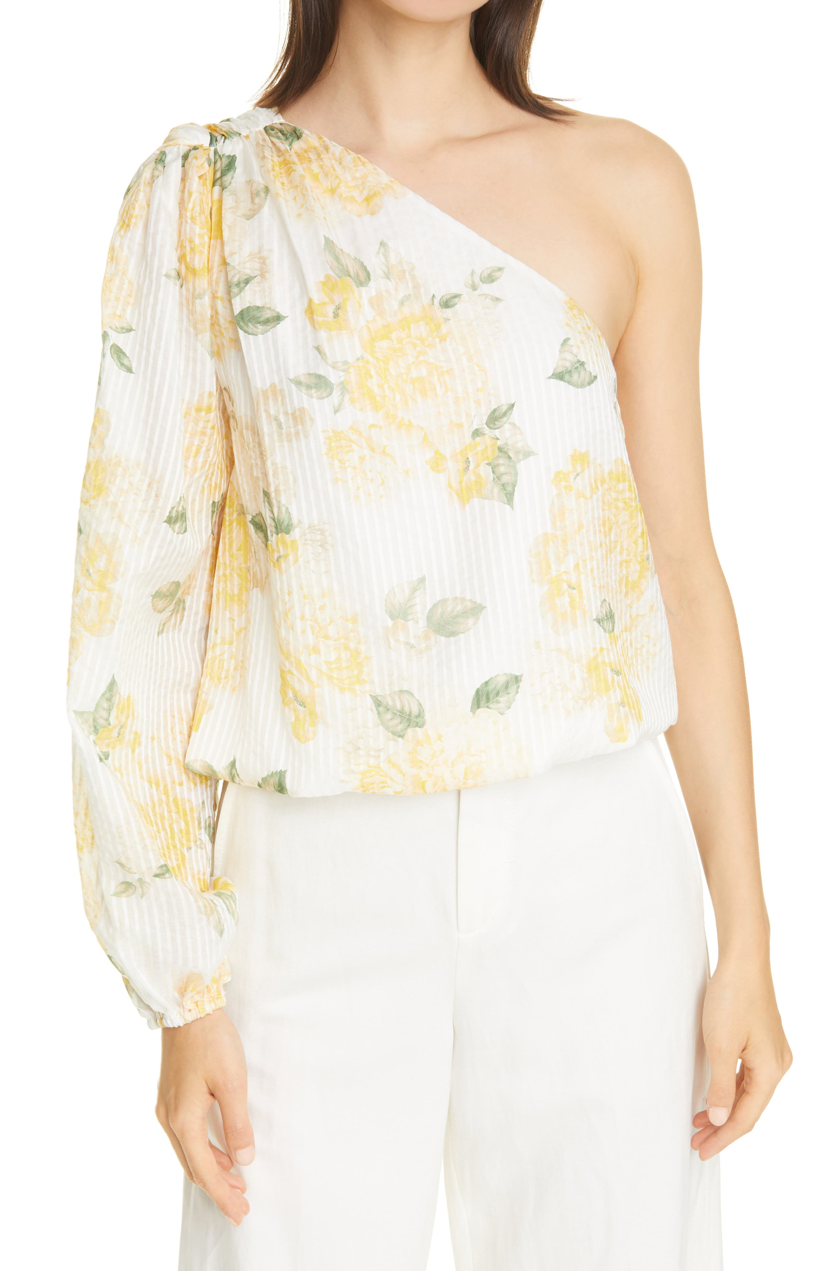 The Lenore One-Shoulder Cotton & Silk Top