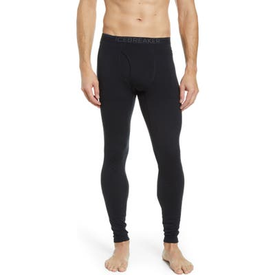 Icebreaker 200 Oasis Merino Wool Jersey Base Layer Leggings, Black