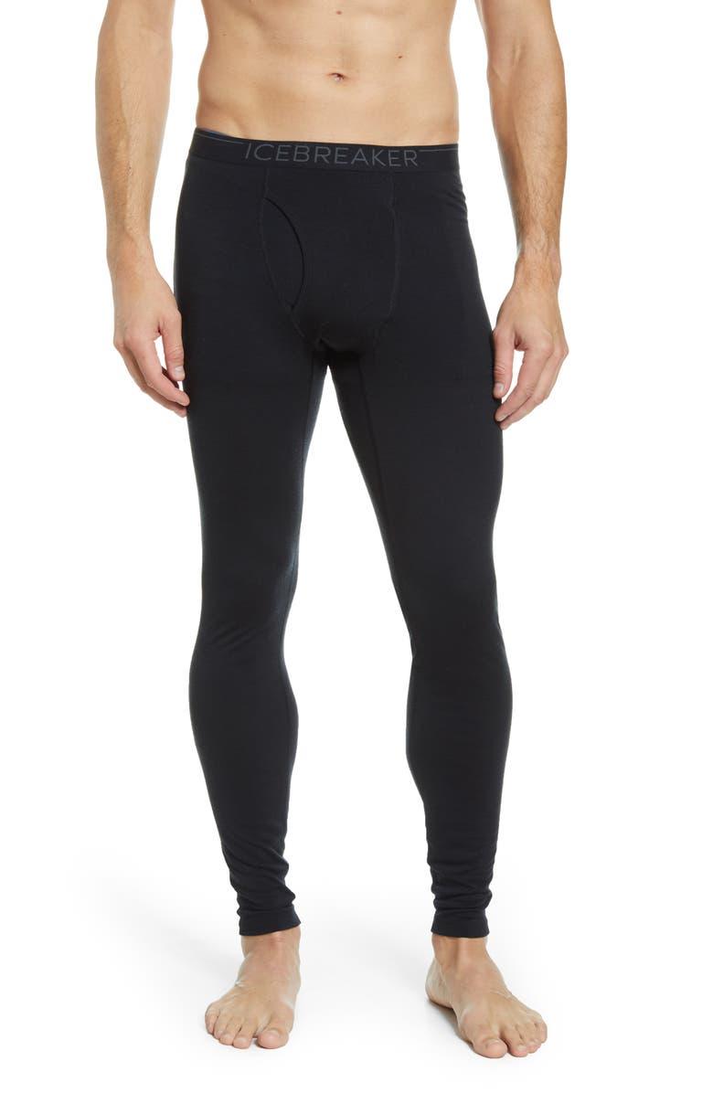 ICEBREAKER 200 Oasis Merino Wool Jersey Base Layer Leggings, Main, color, BLACK