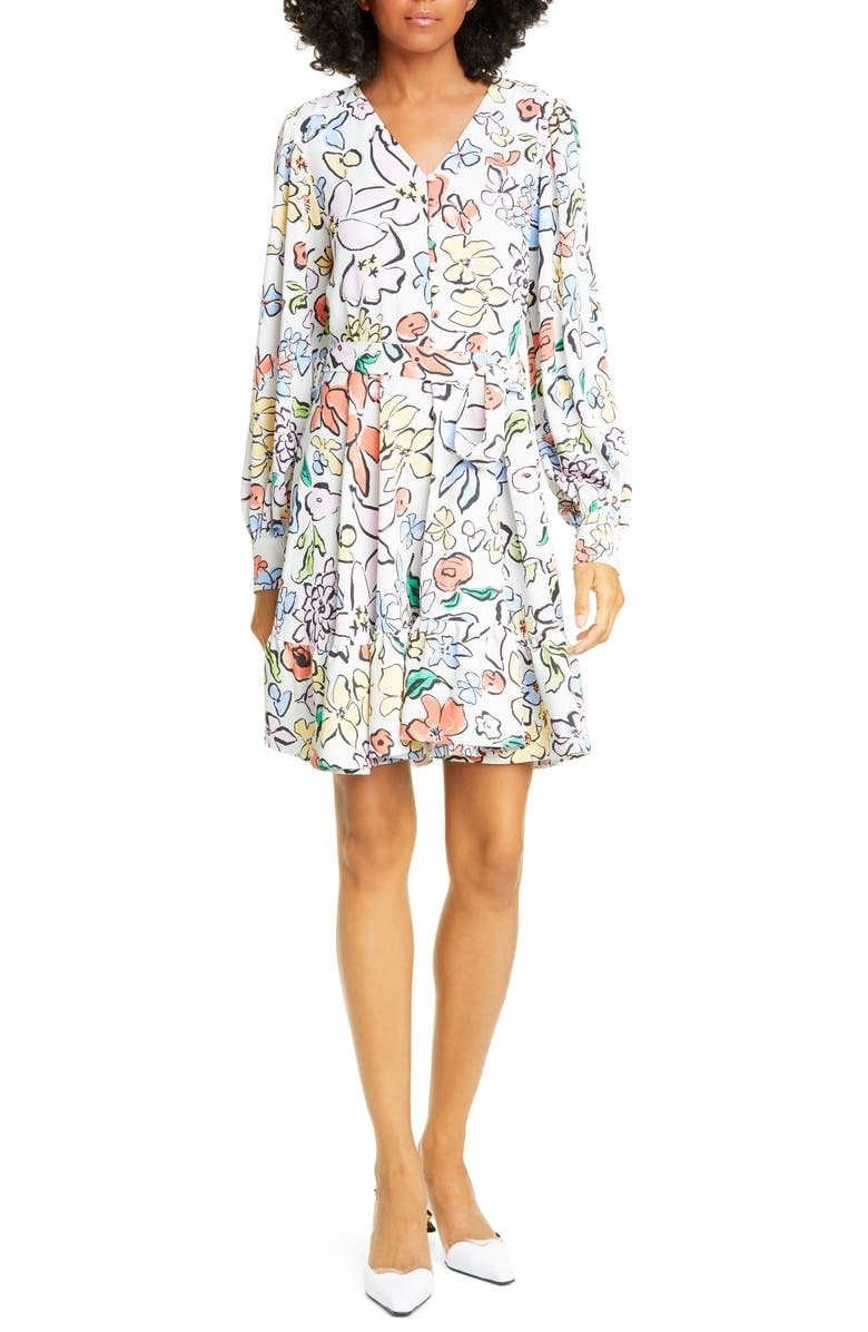 STINE GOYA Farrow Floral Long Sleeve Dress, Main, color, FLOWER GARDEN