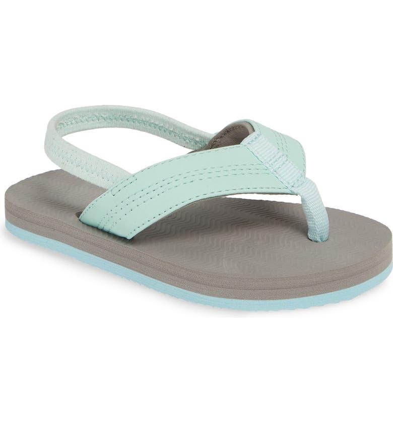 HARI MARI Brazos Thong Sandal, Main, color, AQUA/ GRAY