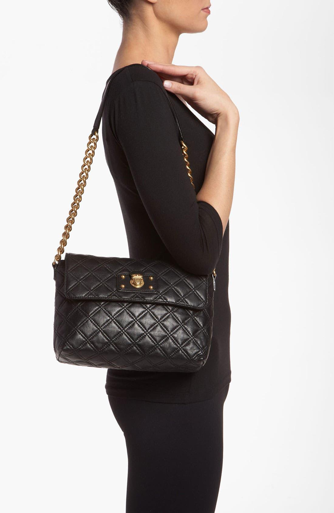 ,                             'Large Quilting Single' Leather Shoulder Bag,                             Alternate thumbnail 12, color,                             004