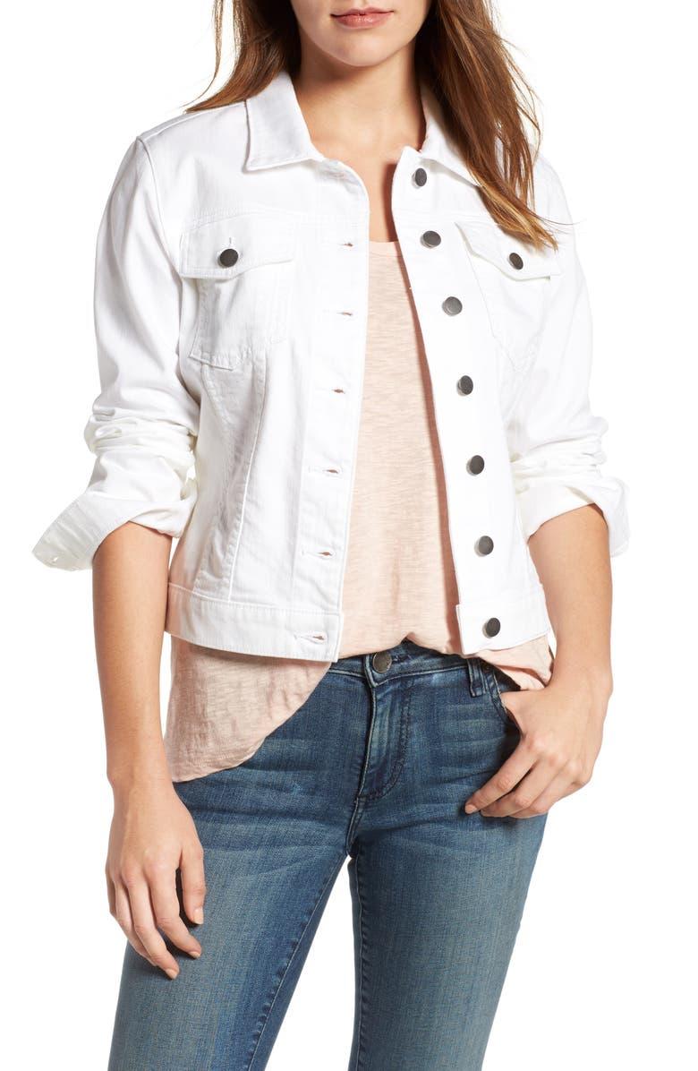 KUT FROM THE KLOTH 'Helena' Denim Jacket, Main, color, 111