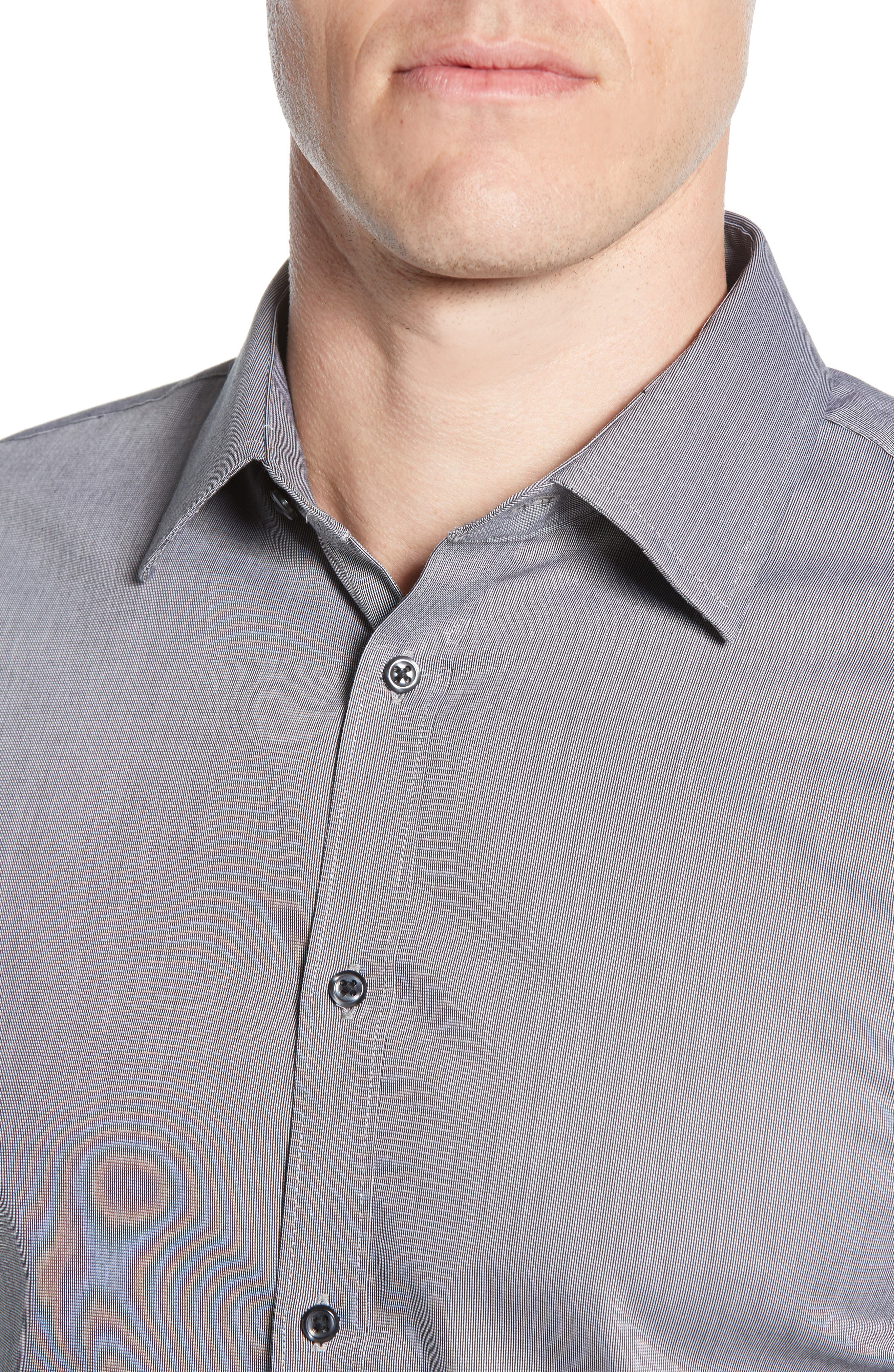 ,                             Extra Trim Fit Non-Iron Solid Dress Shirt,                             Alternate thumbnail 8, color,                             030
