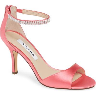 Nina Volanda Ankle Strap Sandal, Pink