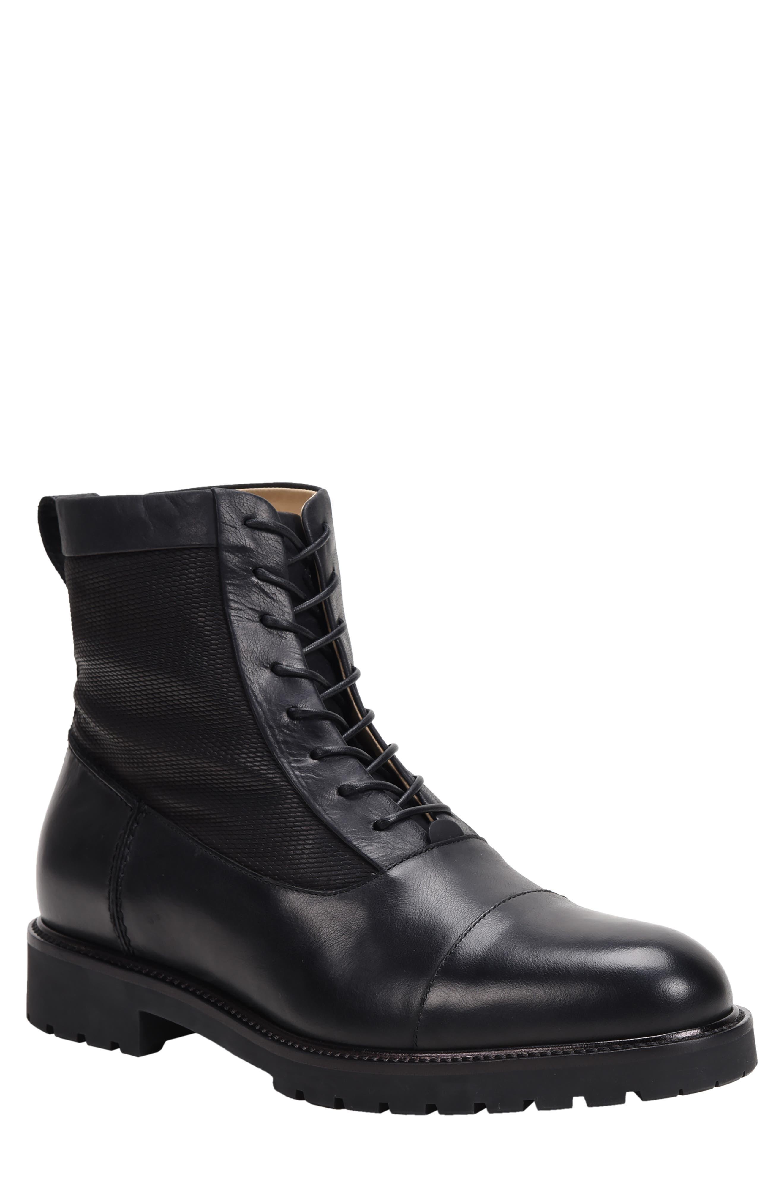 Mens Vintage Shoes, Boots | Retro Shoes & Boots Mens Ross  Snow Cap Toe Weatherproof Boot Size 15 M - Black $345.00 AT vintagedancer.com