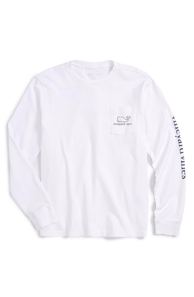 VINEYARD VINES Vintage Whale Graphic Long Sleeve T-Shirt, Main, color, WHITE CAP