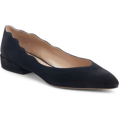 Chloe Laurena Scalloped Flat - Black