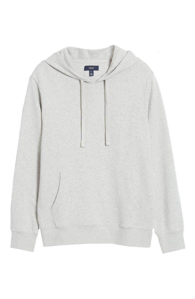 1901 Garment Washed Hoodie, Main, color, GREY LIGHT HEATHER