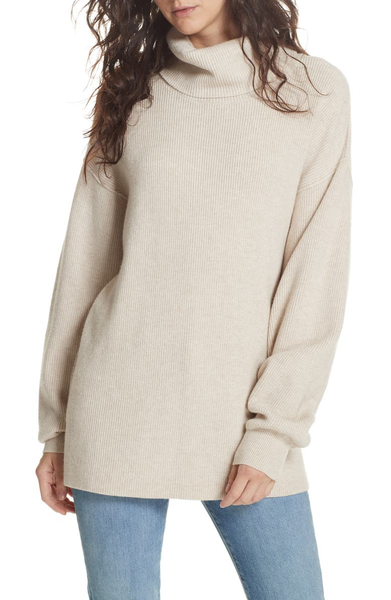 FREE PEOPLE Softly Structured Knit Tunic, Main, color, OATMEAL HEATHER