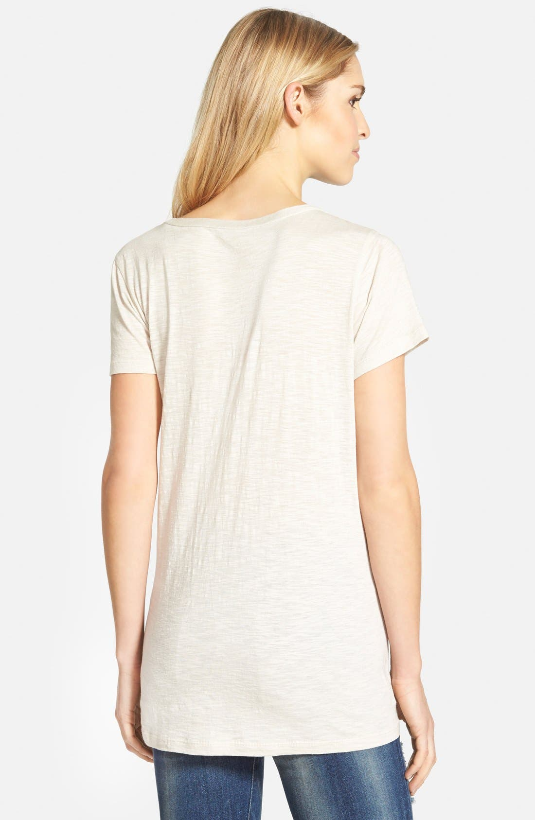 ,                             Relaxed Slub Knit U-Neck Tee,                             Alternate thumbnail 171, color,                             250