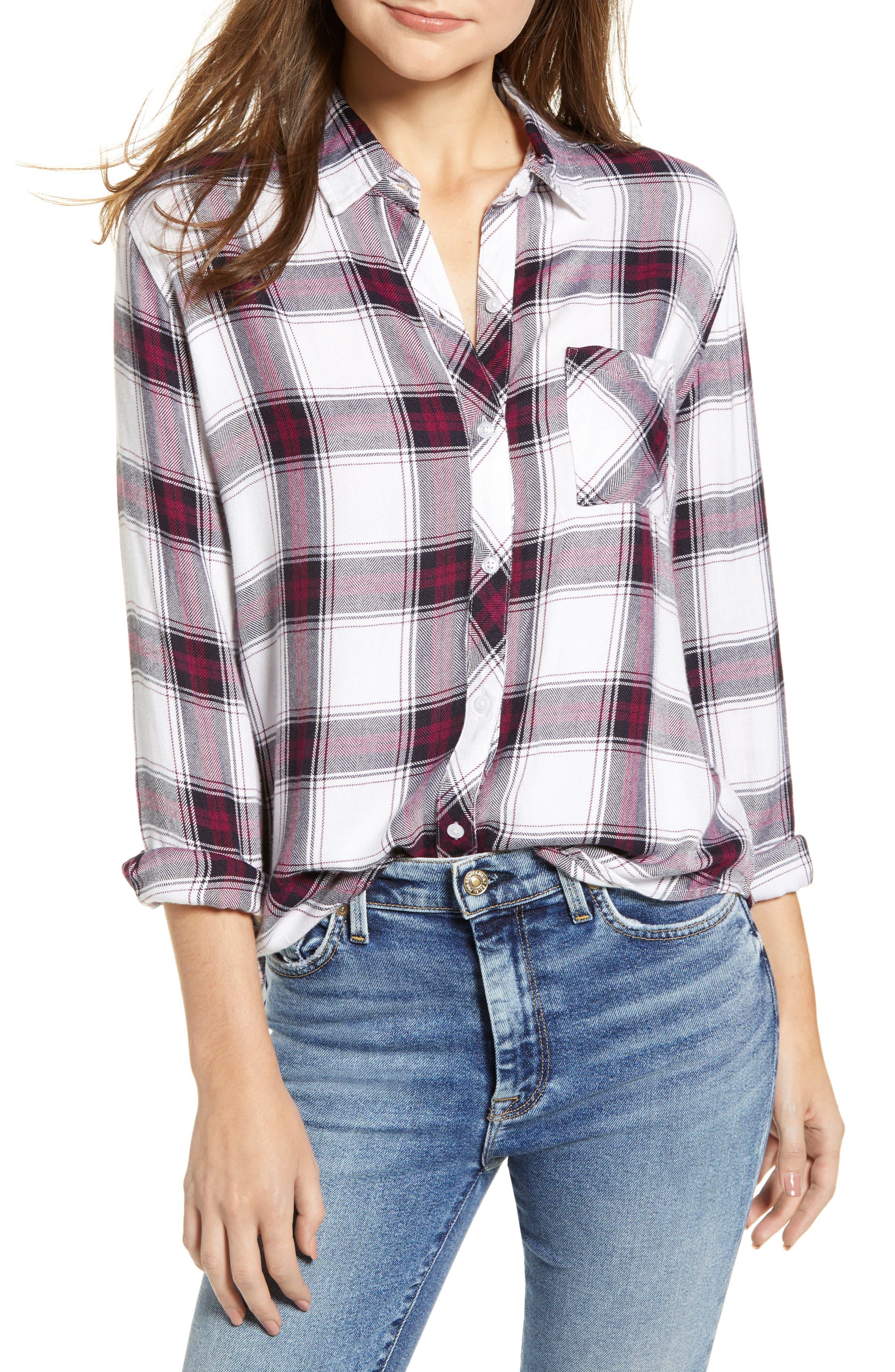 ,                             Hunter Plaid Shirt,                             Main thumbnail 406, color,                             502