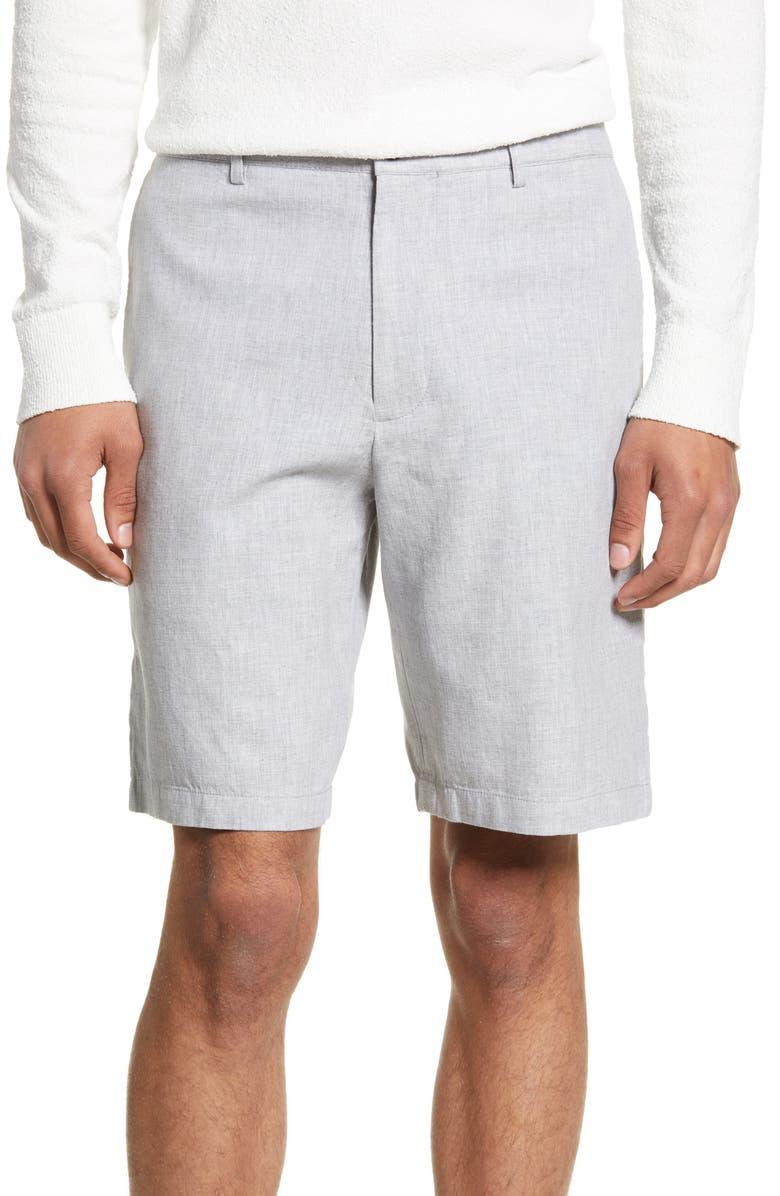 CLUB MONACO Maddox Leaf Slim Fit Shorts, Main, color, 020