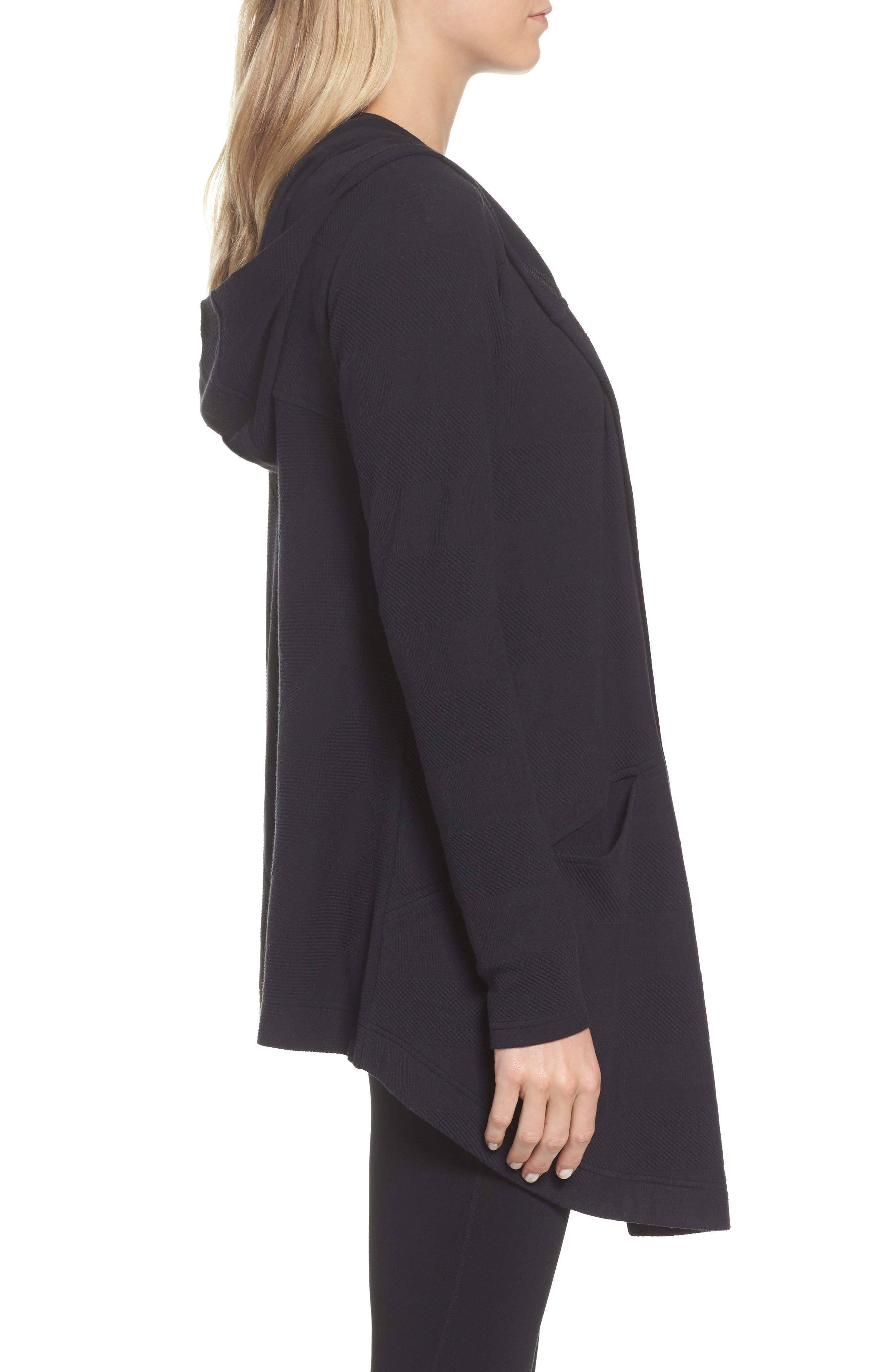 ,                             Ria Hooded Cardigan,                             Alternate thumbnail 4, color,                             001