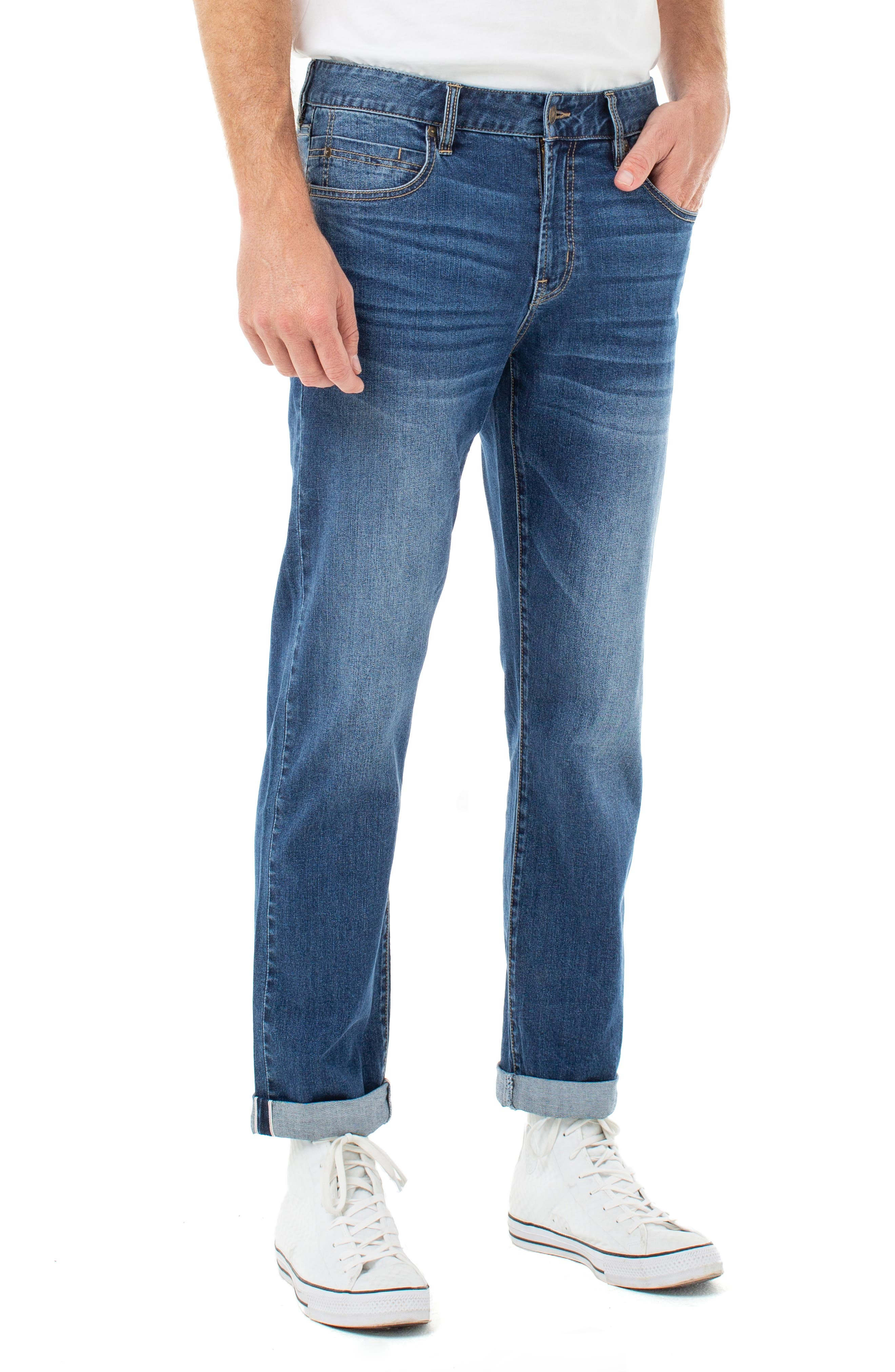 Men's Liverpool Relaxed Straight Leg Jeans,  31 x 32 - Blue