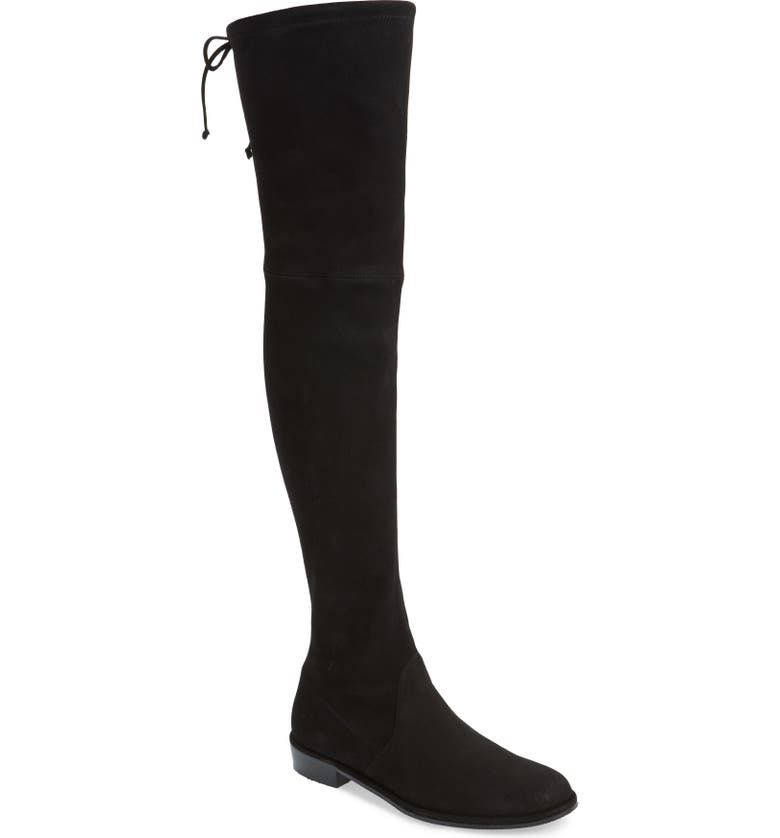 STUART WEITZMAN 'Lowland' Over the Knee Boot, Main, color, BLACK/ BLACK SUEDE