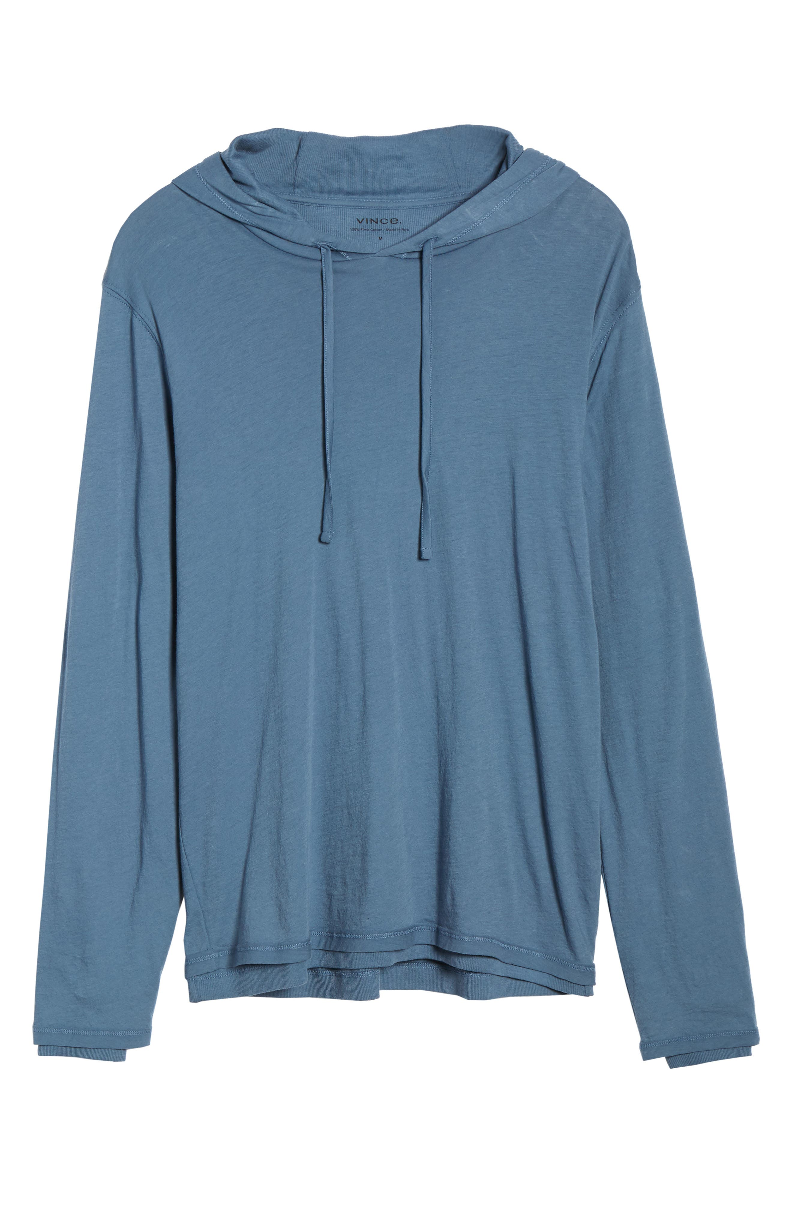 ,                             Double Layer Solid Hoodie,                             Alternate thumbnail 6, color,                             BERING SEA