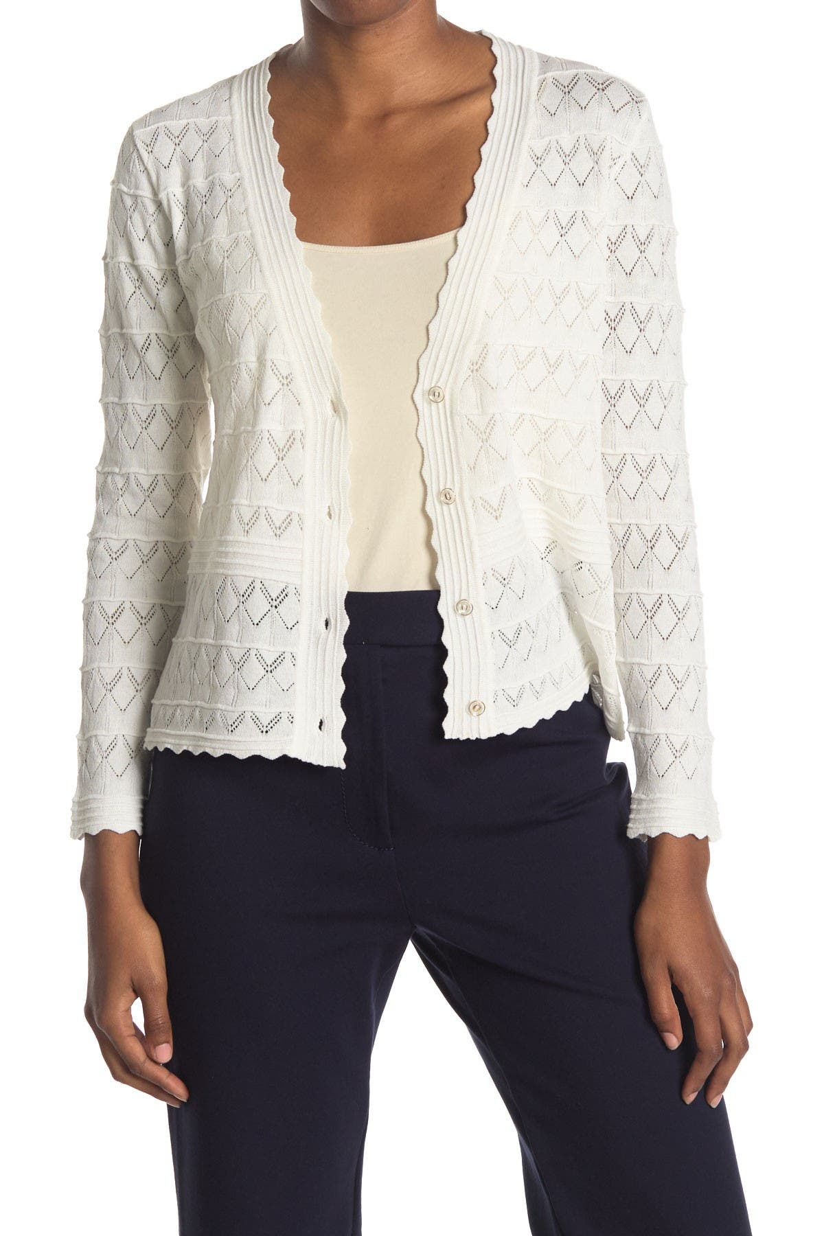 Image of Cliche Pointelle Cardigan