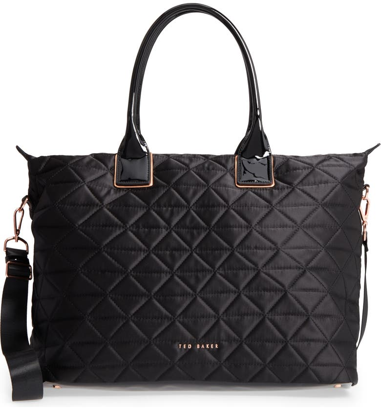 TED BAKER LONDON Large Hilksi Quilted Tote, Main, color, 001