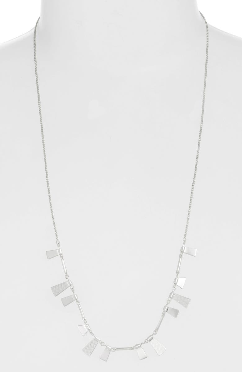 KENDRA SCOTT Lynne Adjustable Necklace, Main, color, BRIGHT SILVER