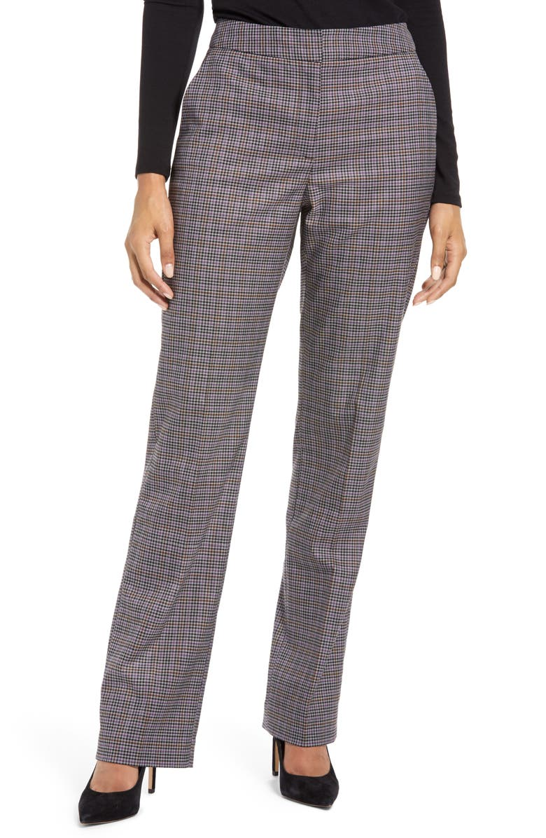 HALOGEN<SUP>®</SUP> Check Ankle Stovepipe Pants, Main, color, 530