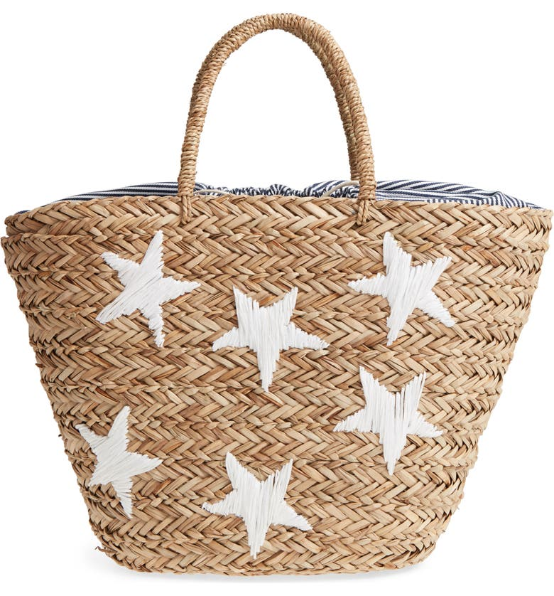 NORDSTROM Stargaze Woven Sea Grass Tote, Main, color, 100