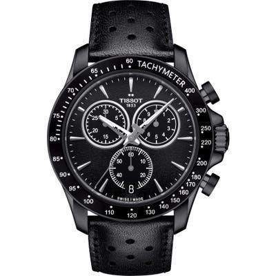 Tissot V8 Chronograph Leather Strap Watch,