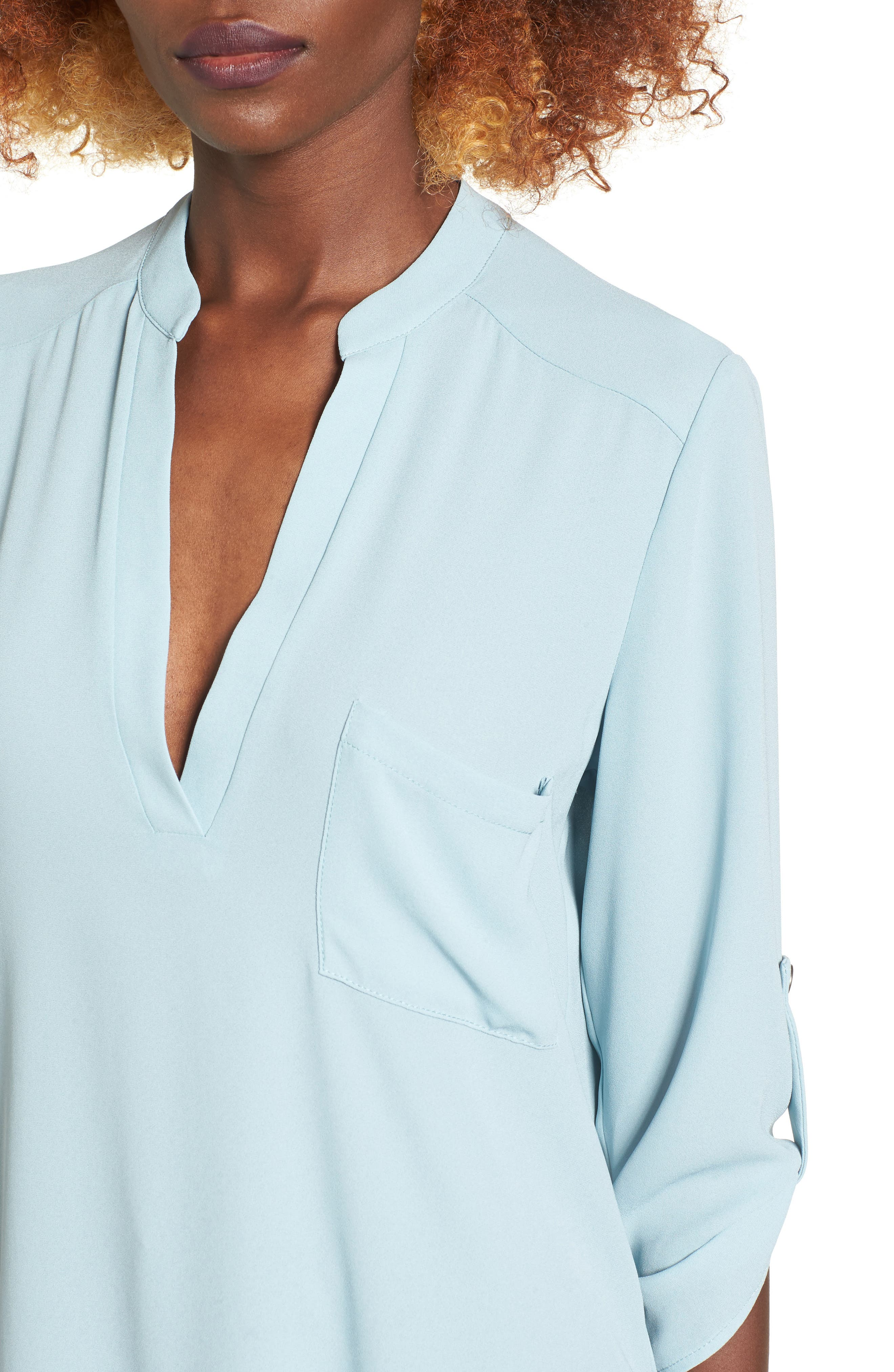 ,                             Perfect Roll Tab Sleeve Tunic,                             Alternate thumbnail 196, color,                             021