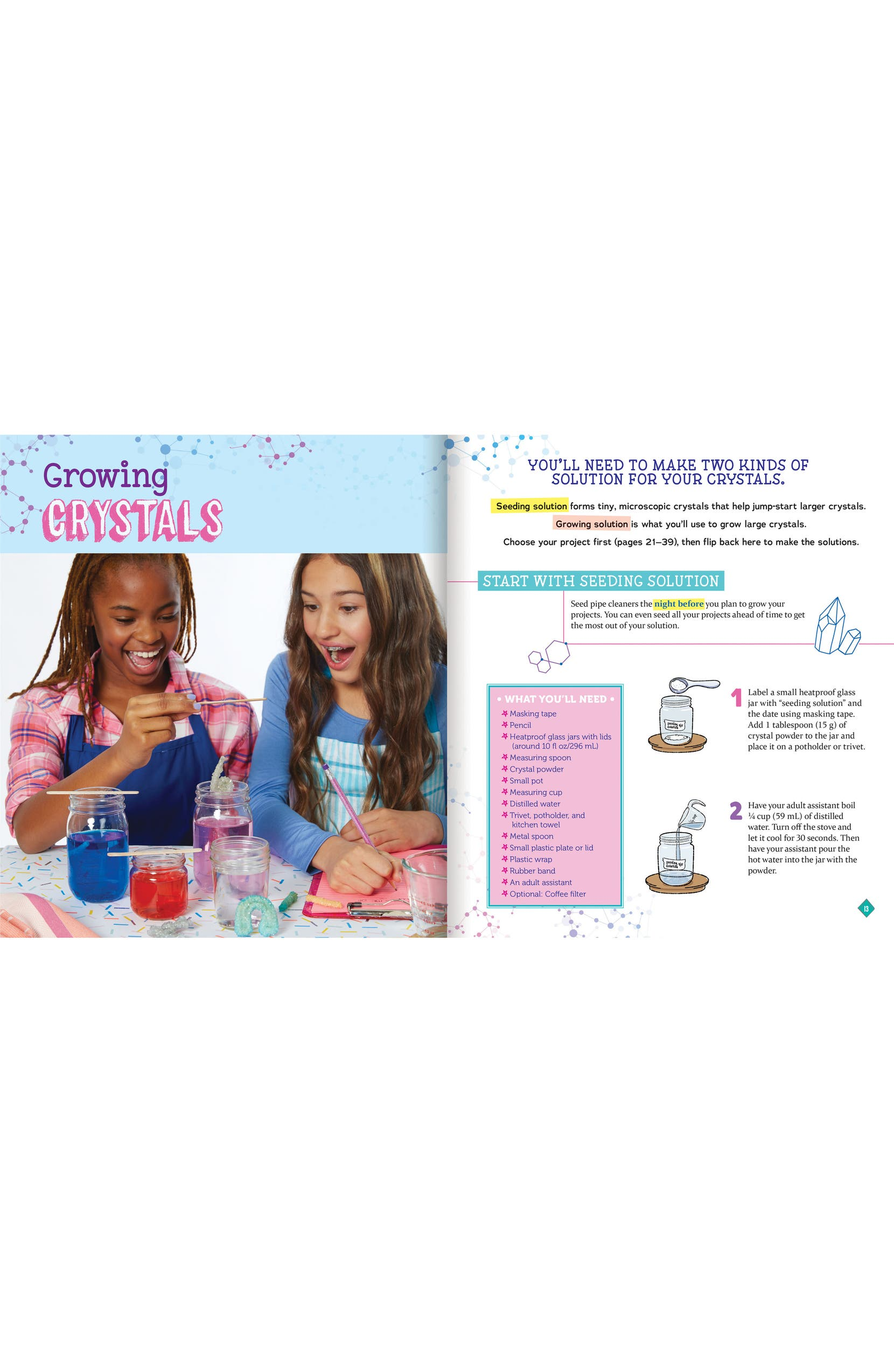 Klutz Grow Your Own Crystal Mini Worlds Kit   Nordstrom