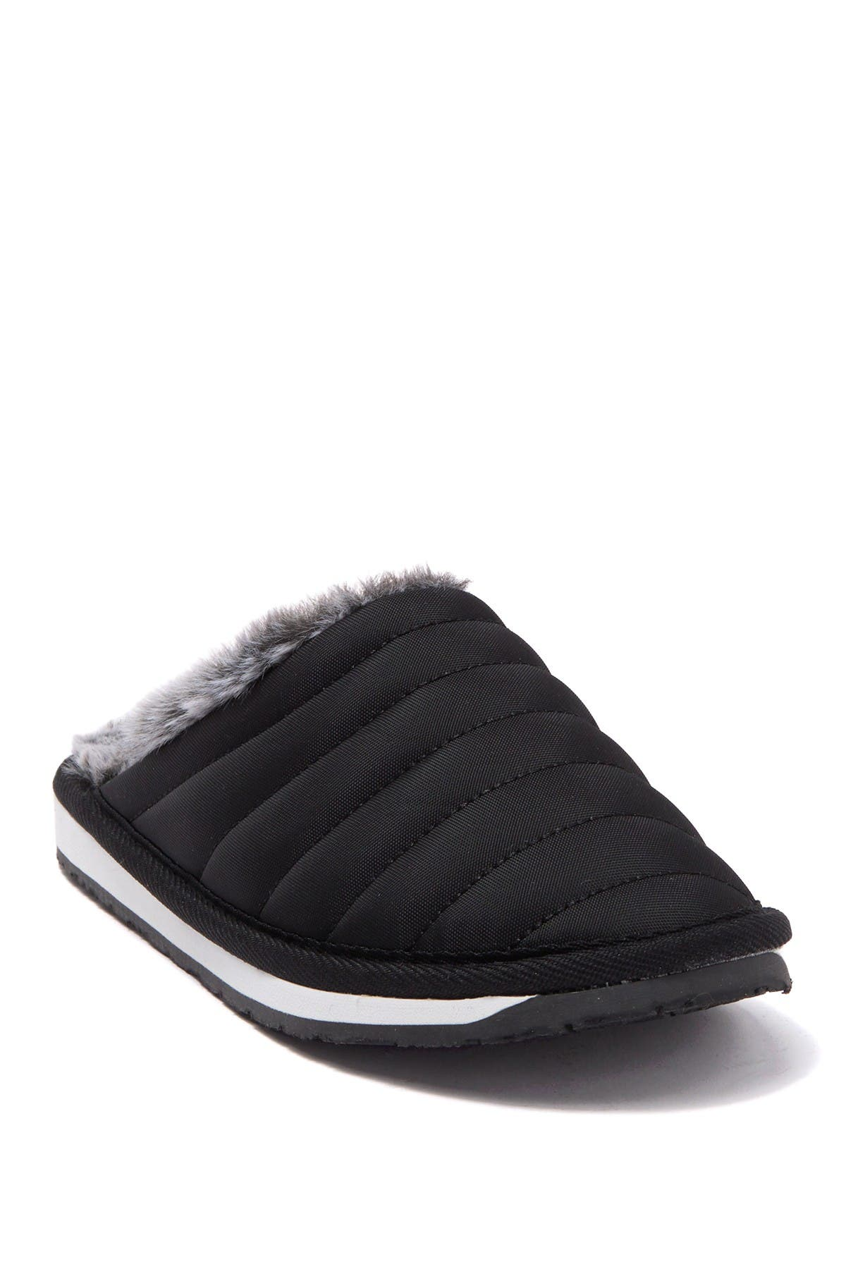 Image of Minnetonka Quilted Traditional Faux Fur Lined Scuff Slipper
