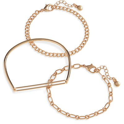 Bp. Set Of 3 Chain & Bangle Bracelets