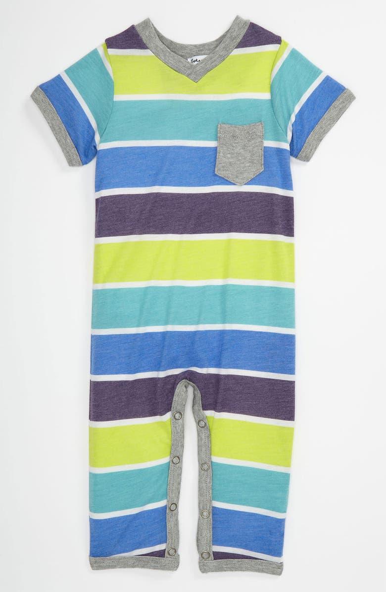 SPLENDID Short Sleeve Romper, Main, color, SHRED