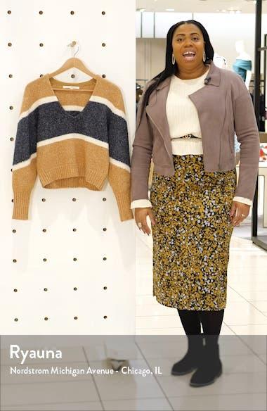 Emilia Stripe V-Neck Sweater, sales video thumbnail