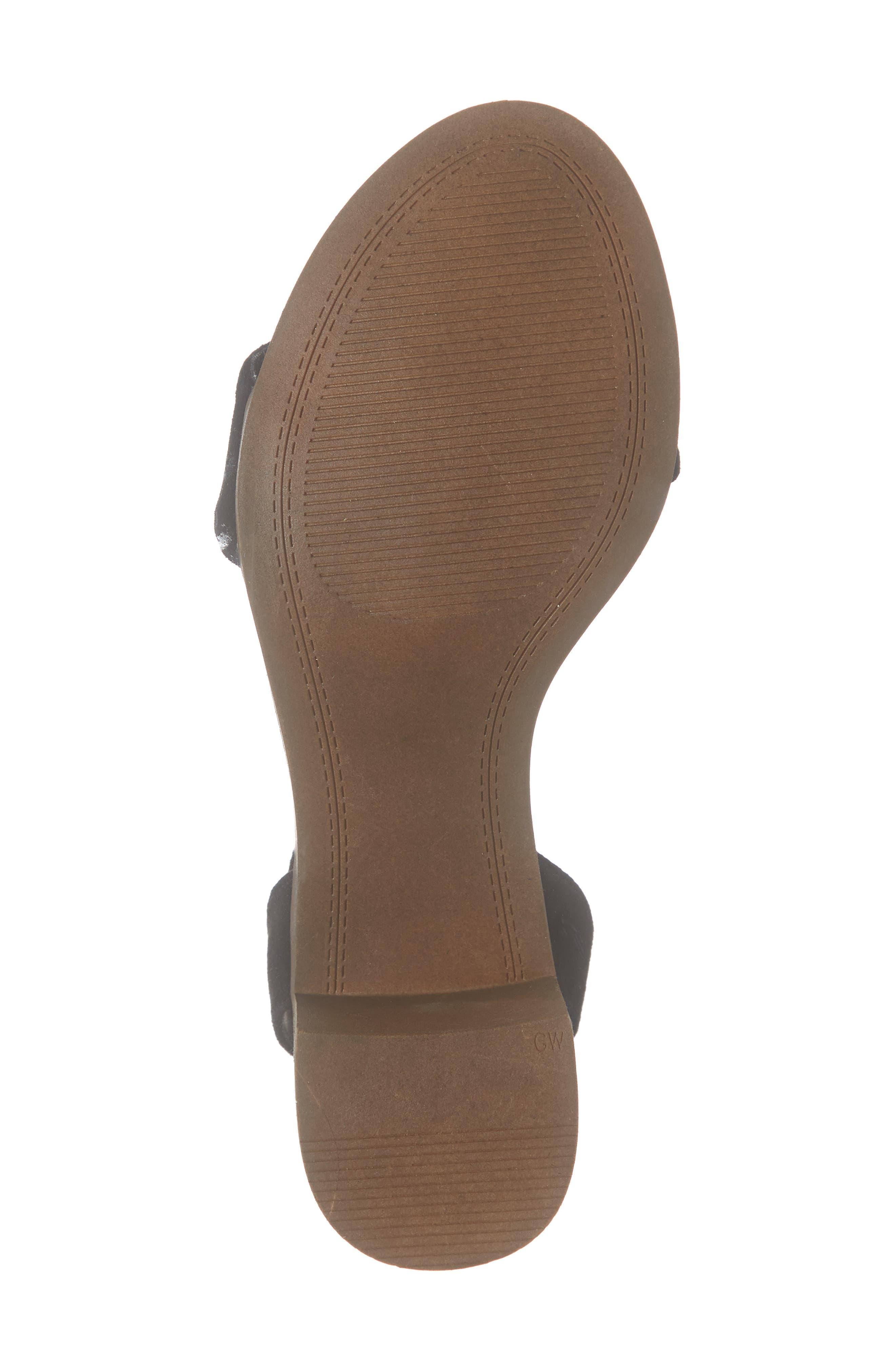 ,                             Adrianne Ankle Wrap Sandal,                             Alternate thumbnail 6, color,                             BLACK SUEDE